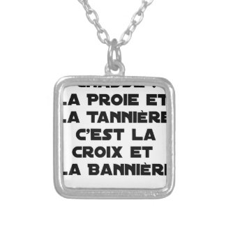 Drive out: The Prey and the Den, it is the Cross Silver Plated Necklace