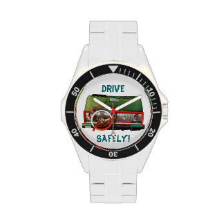 Drive Safely! Nostalgic Toy Dashboard Pic Watches