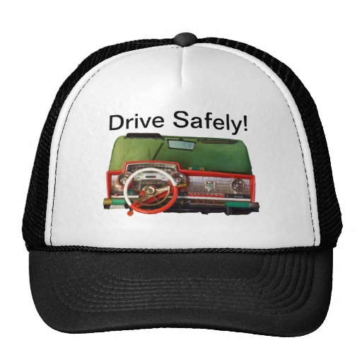 Drive Safely! Nostalgic Toy Dashboard Pic Hat