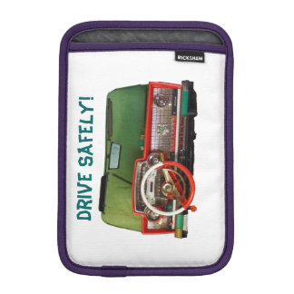 Drive Safely! Nostalgic Toy Dashboard Pic iPad Mini Sleeves