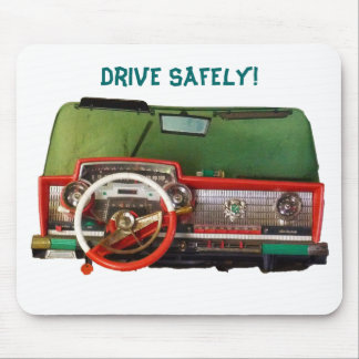 Drive Safely Nostalgic Toy Dashboard Pic Mousepads