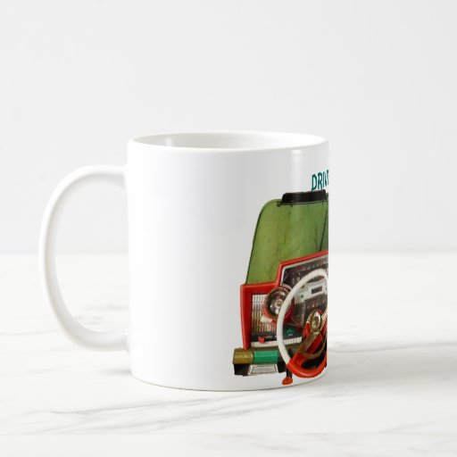 Drive Safely! Nostalgic Toy Dashboard Pic Coffee Mugs