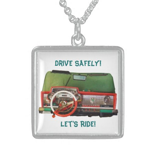 Drive Safely! Nostalgic Toy Dashboard Pic Necklaces