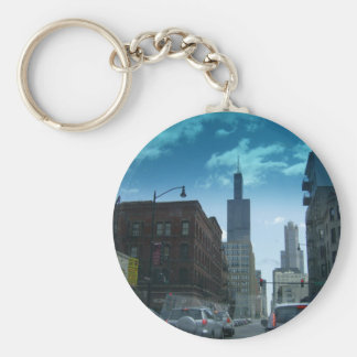 Drive Through Downtown Chicago Key Chains