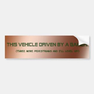 """Driven By A Gamer"" Bumper Sticker"