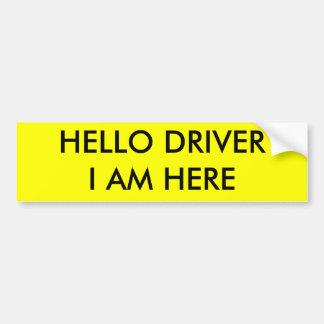 driver bumper sticker