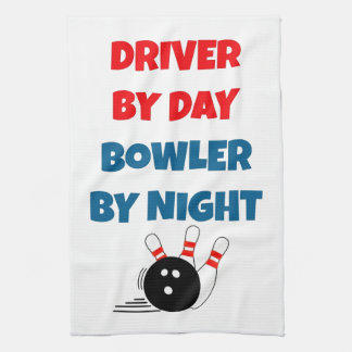 Driver by Day Bowler by Night Tea Towel
