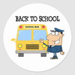 Driver In Front of School Bus Sticker