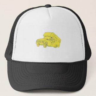 Driver Thumbs Up Camper Van Cartoon Trucker Hat