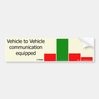 Driver To Driver Communication Bumper Sticker