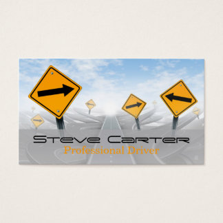 Driver / Transportation / Automotive Road Sign Business Card