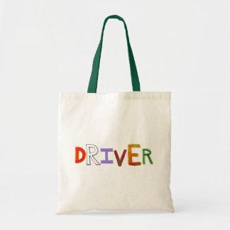 Driver word art colorful unique designated sober tote bags