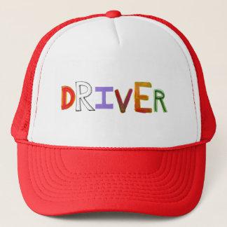 Driver word art colorful unique designated sober trucker hat