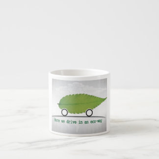 driving a car in an eco-friendly way cup 6 oz ceramic espresso cup