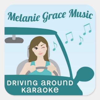 Driving Around Karaoke Sticker