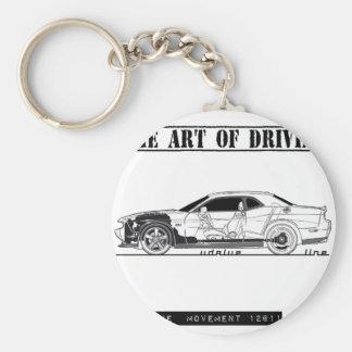 Driving Art Muscle Car Keychain