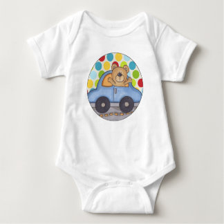 Driving Bear Baby Jersey Bodysuit