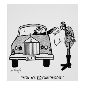 Driving Cartoon 3042 Poster