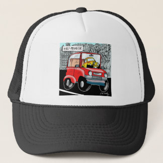 Driving Cartoon 9308 Trucker Hat
