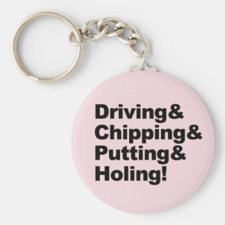 Driving&Chipping&Putting&Holing (blk) Key Ring