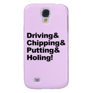 Driving&Chipping&Putting&Holing (blk) Samsung Galaxy S4 Covers