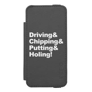 Driving&Chipping&Putting&Holing (wht) Incipio Watson™ iPhone 5 Wallet Case