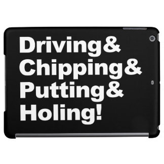Driving&Chipping&Putting&Holing (wht) iPad Air Cover