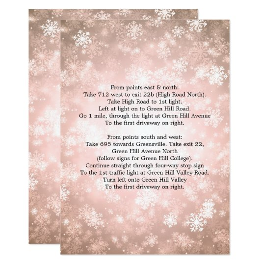 Driving Directions Copper Winter Wonderland Card