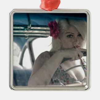 Driving Doris Metal Ornament