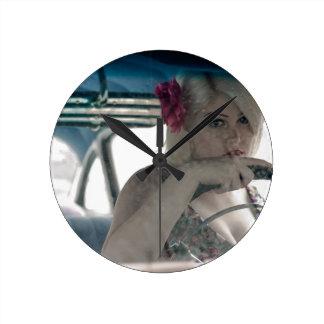 Driving Doris Round Clock