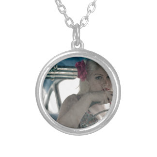 Driving Doris Silver Plated Necklace