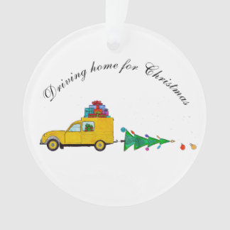 """""""Driving home for Christmas"""" car with gifts"""