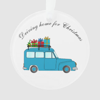 """""""Driving home for Christmas"""" truck with gifts"""