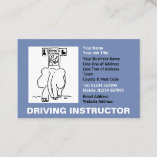 Driving school business cards zazzle au driving instructor appointments business card reheart Choice Image