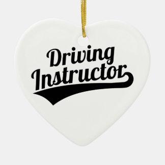 Driving instructor ceramic ornament