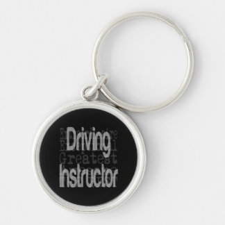 Driving Instructor Extraordinaire Silver-Colored Round Key Ring