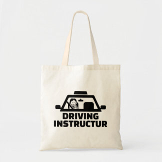 Driving instructor tote bag