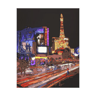 Driving on the Las Vegas Strip Gallery Wrapped Canvas