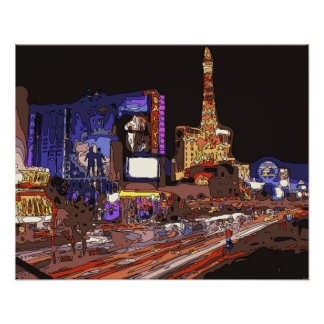 Driving on the Las Vegas Strip Posters