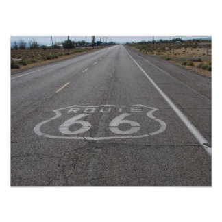 Driving Route 66 Poster