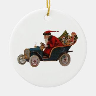 Driving Santa Ornament