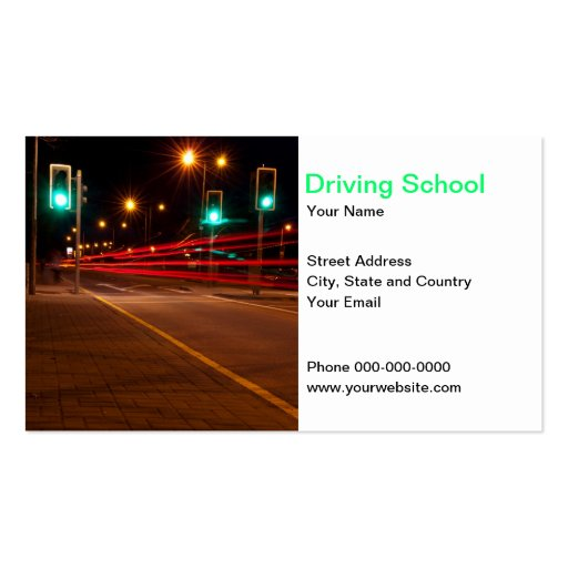 Driving School Business Card Business Card Template