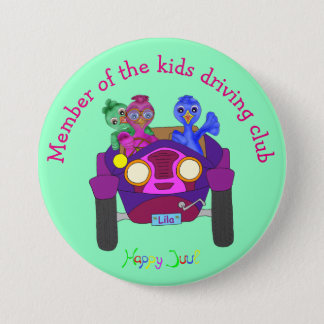 Driving The Kids by The Happy Juul Company 7.5 Cm Round Badge