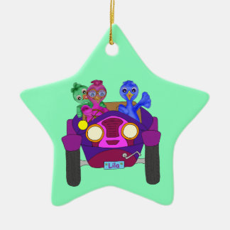 Driving The Kids by The Happy Juul Company Ceramic Star Decoration