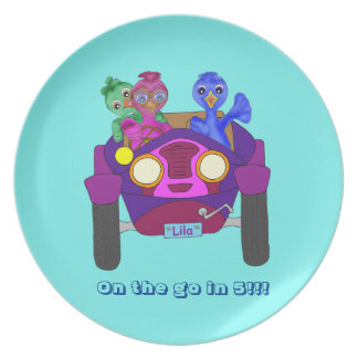 Driving The Kids by The Happy Juul Company Plate