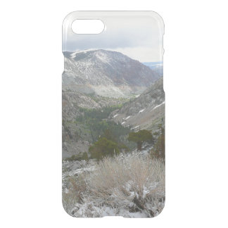 Driving Through the Snowy Sierra Nevada Mountains iPhone 8/7 Case