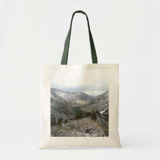 Driving Through the Snowy Sierra Nevada Mountains Tote Bag