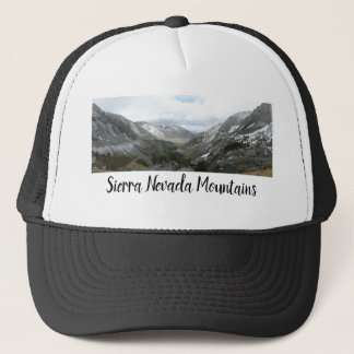 Driving Through the Snowy Sierra Nevada Mountains Trucker Hat