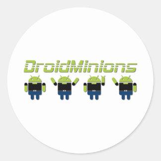 Droid Minions Round Sticker