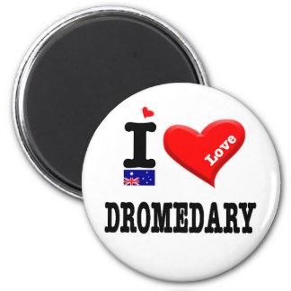 DROMEDARY - I Love 6 Cm Round Magnet
